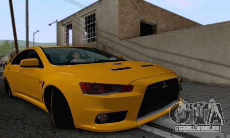 Mitsubishi Lancer X Evolution para GTA San Andreas vista traseira