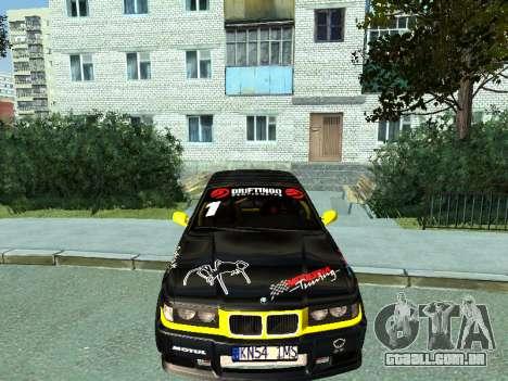 BMW M3 E36 Compact Darius Kepezinskas para GTA San Andreas esquerda vista