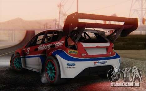 Ford Fiesta Omse HillClimb para GTA San Andreas esquerda vista