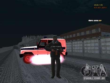 Pak DPS em um formato de inverno para GTA San Andreas sexta tela