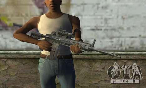 HK416 with ACOG para GTA San Andreas terceira tela
