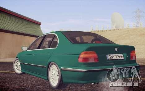 BMW M5 E39 528i Greenoxford para GTA San Andreas esquerda vista
