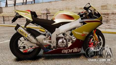 Aprilia RSV4 para GTA 4 vista direita