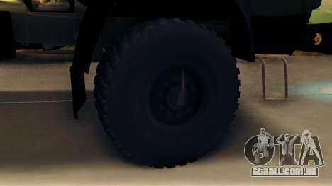 Kamaz 4310 Brevnova para GTA San Andreas vista traseira