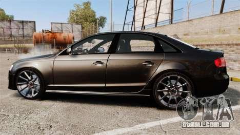 Audi S4 Unmarked Police [ELS] para GTA 4 esquerda vista