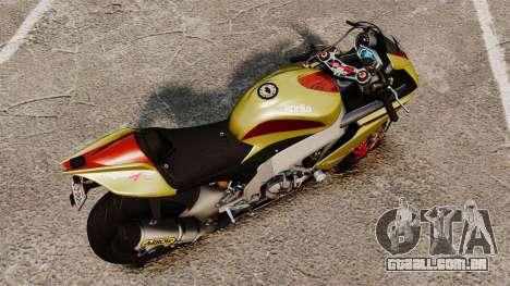 Aprilia RSV4 para GTA 4 traseira esquerda vista