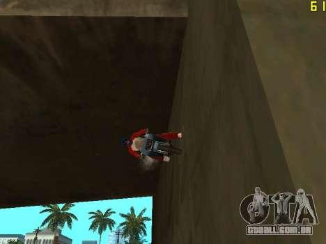 Equitação em paredes e tectos v 2.0. para GTA San Andreas terceira tela