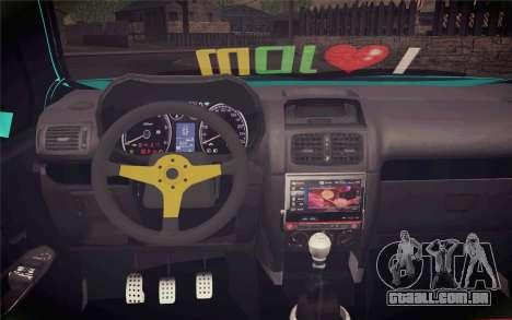 Renault Clio para GTA San Andreas vista direita