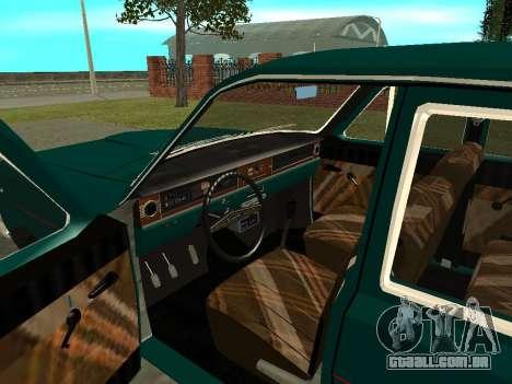 GÁS 24-01 Volga para GTA San Andreas vista traseira