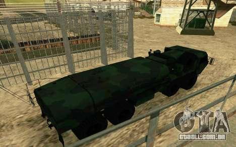 HEMTT Heavy Expanded Mobility Tactical Truck M97 para GTA San Andreas esquerda vista