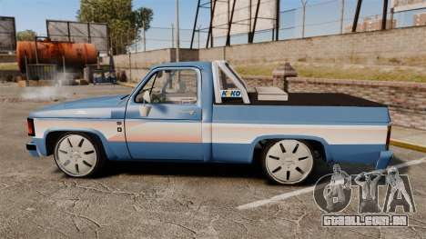 Chevrolet D-20 Custom para GTA 4 esquerda vista