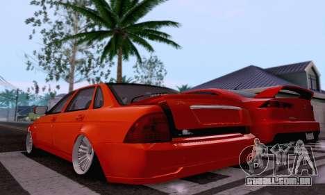 LADA 2170 para GTA San Andreas vista superior