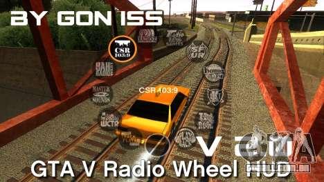 GTA 5 Radio HUD para GTA San Andreas
