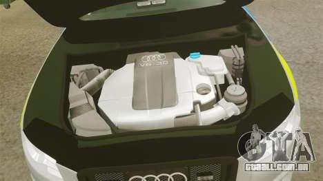 Audi S4 ANPR Interceptor [ELS] para GTA 4 vista interior