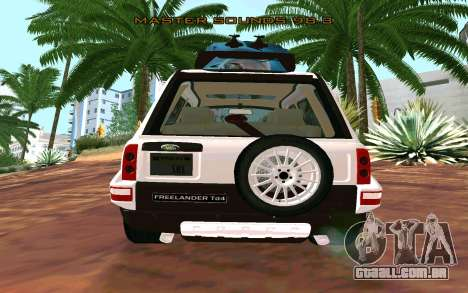Land Rover Freelander para GTA San Andreas esquerda vista