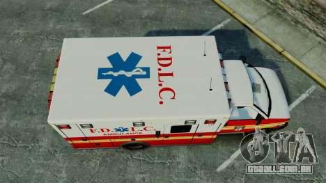 Brute FDLC Ambulance [ELS] para GTA 4 vista direita
