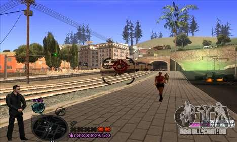 C-HUD Woozie para GTA San Andreas quinto tela