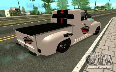 Ford FR-100 para GTA San Andreas vista traseira