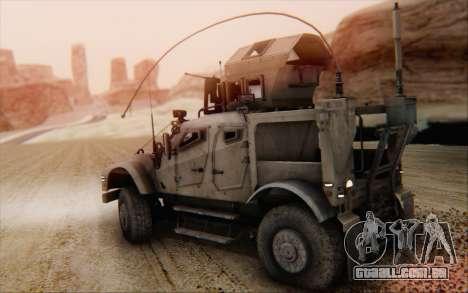 Oshkosh M-ATV para GTA San Andreas esquerda vista