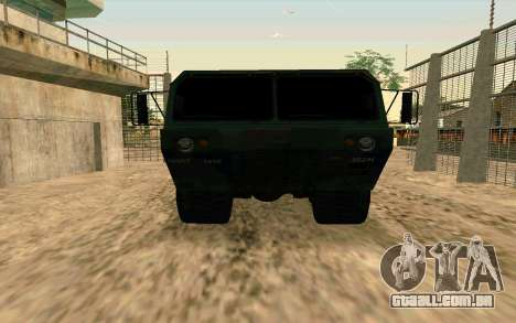 HEMTT Heavy Expanded Mobility Tactical Truck M97 para GTA San Andreas vista direita