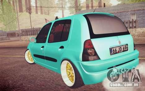 Renault Clio para GTA San Andreas esquerda vista