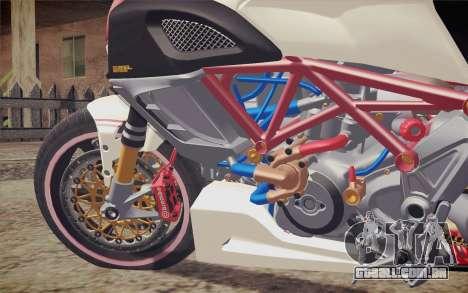 Ducati Diavel Carbon 2011 para GTA San Andreas vista traseira