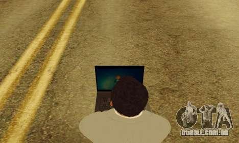 Notebook mod v1.0 para GTA San Andreas quinto tela