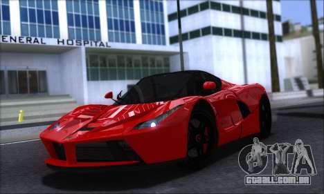 Ferrari LaFerrari v1.0 para GTA San Andreas esquerda vista