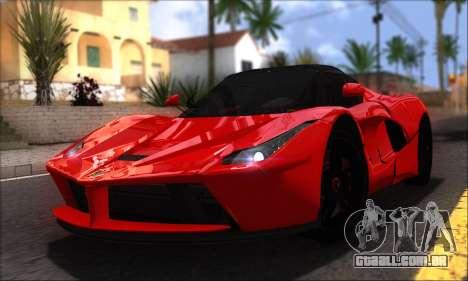 Ferrari LaFerrari v1.0 para GTA San Andreas vista direita
