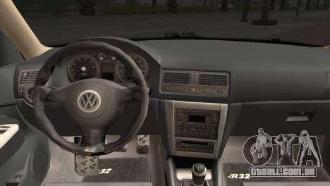 Volkswagen Golf IV Hellaflush para GTA San Andreas vista traseira