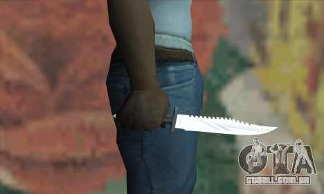 Faca Rambo para GTA San Andreas terceira tela