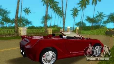 Toyota MR-S Veilside Spider para GTA Vice City vista traseira esquerda