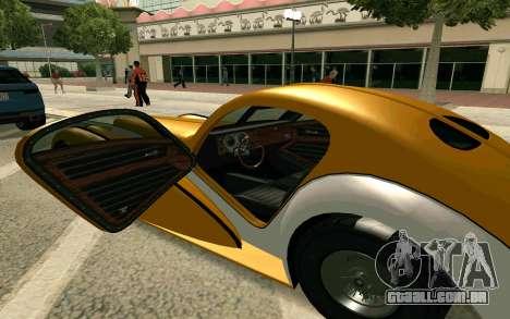 GTA V Z-type para GTA San Andreas traseira esquerda vista
