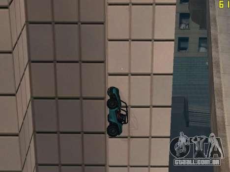 Equitação em paredes e tectos v 2.0. para GTA San Andreas