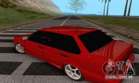 VAZ 2115 Diod para GTA San Andreas traseira esquerda vista