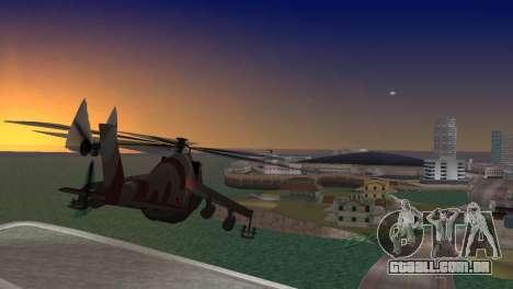Mi-24 Krokodil para GTA Vice City deixou vista