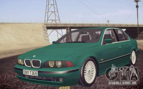 BMW M5 E39 528i Greenoxford para GTA San Andreas