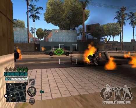C-HUD v1 para GTA San Andreas terceira tela