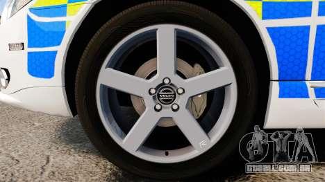 Volvo V70 South Wales Police [ELS] para GTA 4 vista de volta