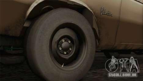 Plymouth Belvedere 2-door Sedan 1965 para GTA San Andreas traseira esquerda vista