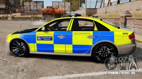 Audi S4 ANPR Interceptor [ELS] para GTA 4 esquerda vista