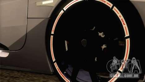 Koenigsegg CCX 2006 Autovista para GTA San Andreas traseira esquerda vista