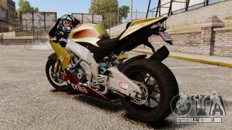 Aprilia RSV4 para GTA 4 esquerda vista