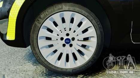 Ford Mondeo Estate Police Dog Unit [ELS] para GTA 4 vista de volta