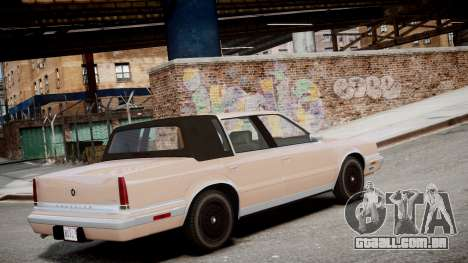 Chrysler New Yorker 1988 para GTA 4 esquerda vista