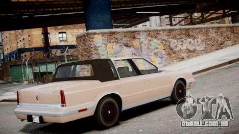 Chrysler New Yorker 1988 para GTA 4 esquerda vista