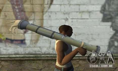 O lançador de foguetes a partir de Pstal 3 para GTA San Andreas terceira tela