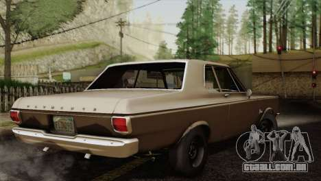 Plymouth Belvedere 2-door Sedan 1965 para GTA San Andreas vista traseira