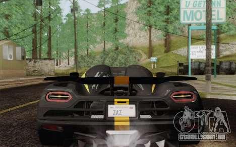 Koenigsegg Agera R para o motor de GTA San Andreas