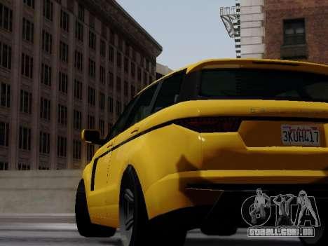 Baller 2 из GTA V para GTA San Andreas traseira esquerda vista